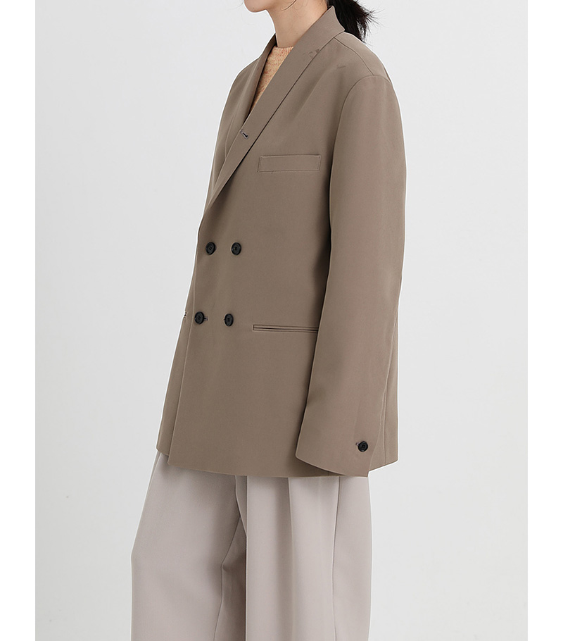 shawl collar double jacket (3colors)
