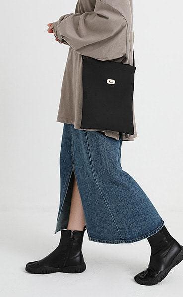 live slit long denim skirt (2colors)
