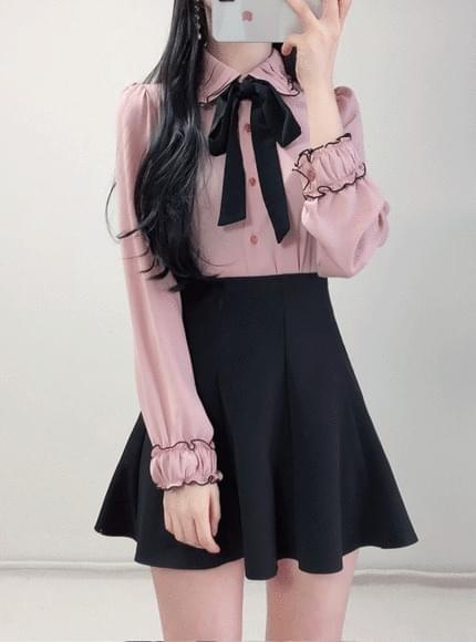 Order rush ♥ Lisa Point ribbon blouse