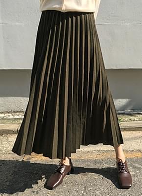 Winter Long Pleated Skirt