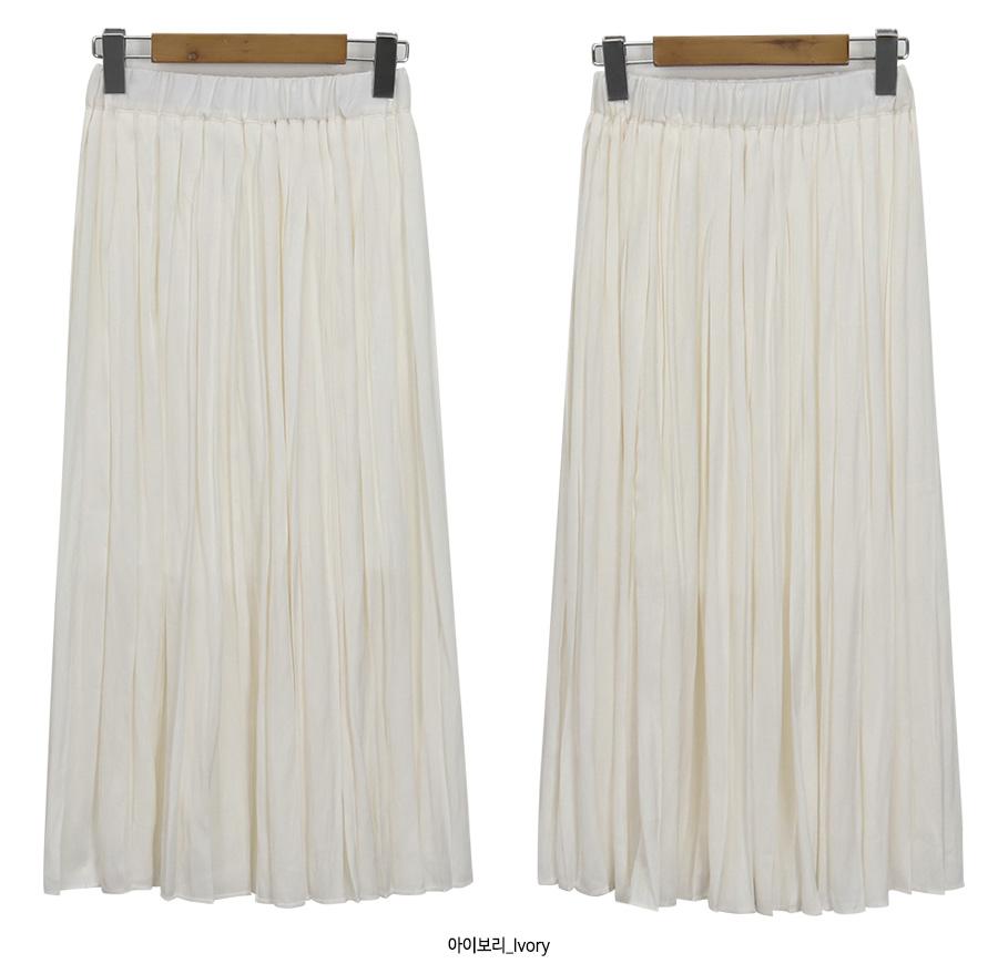 Angel pleats banding skirt_S (size : free)