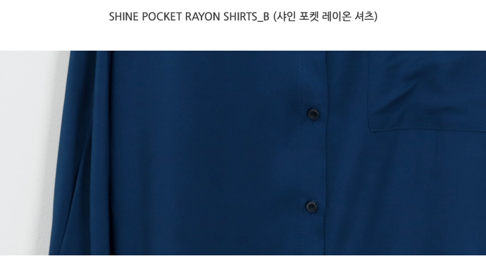 Shine pocket rayon shirts_B (size : free)