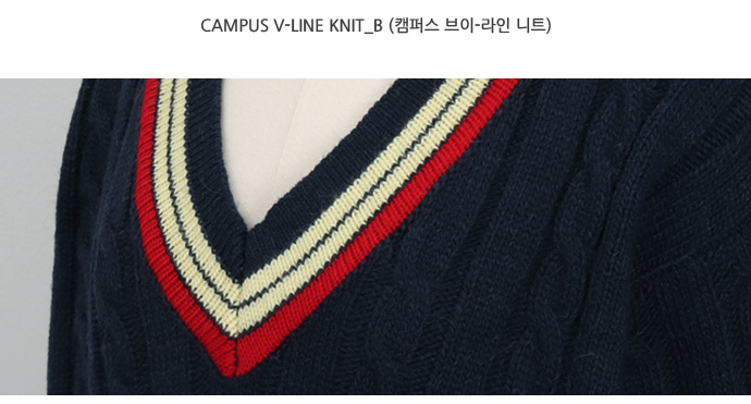 Campus v-line knit_B (size : free)
