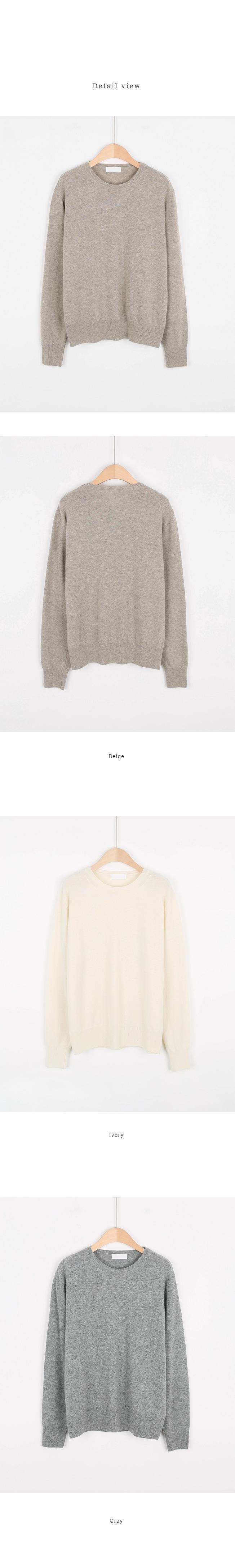 Mono Round Neck Wool Knit