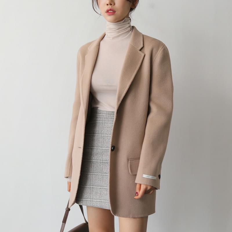 Half handmade coat beige shipped same day ♡