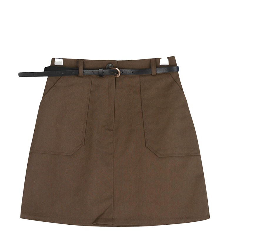 Cotton King Pocket Belt Skirt