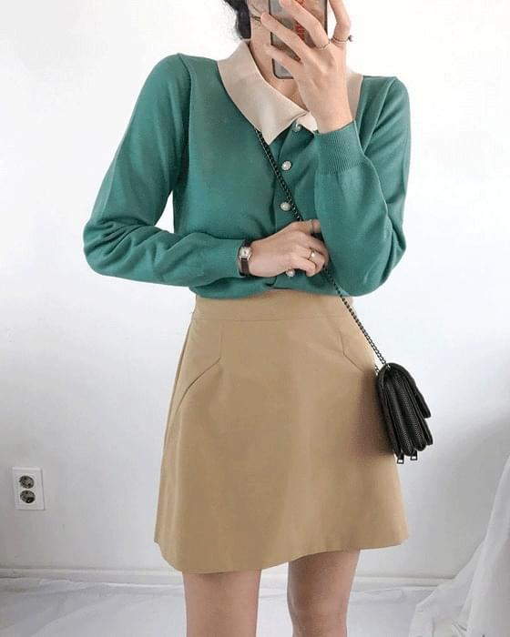 Choux a line bending mini skirt 2 color