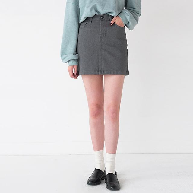 unique high waist mini skirt