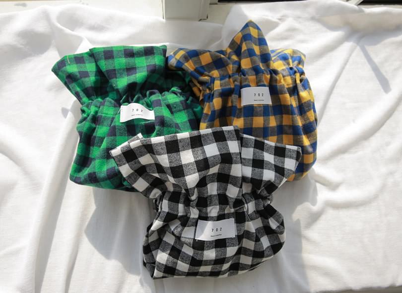 Absorbent brushed check bag