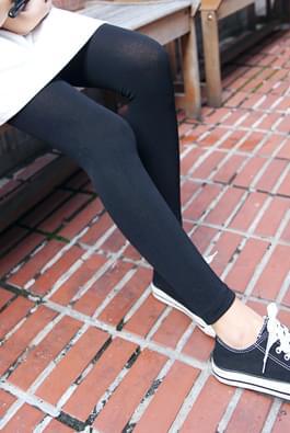 Brushed ankle leggings