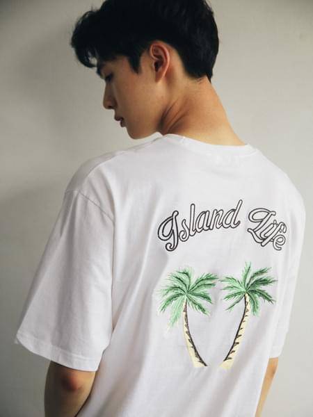Palm tree short sleeve tee