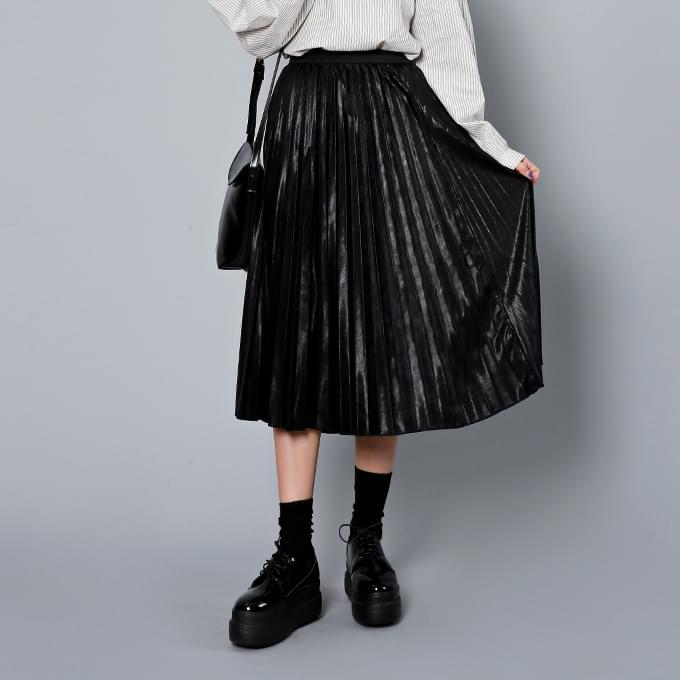 Glitter Pleated Skirt