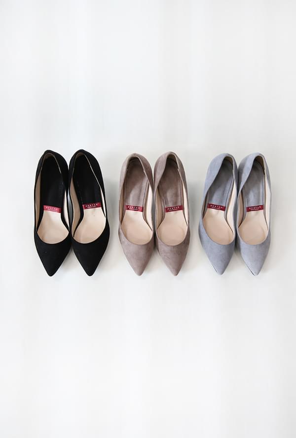 Suede stiletto heel