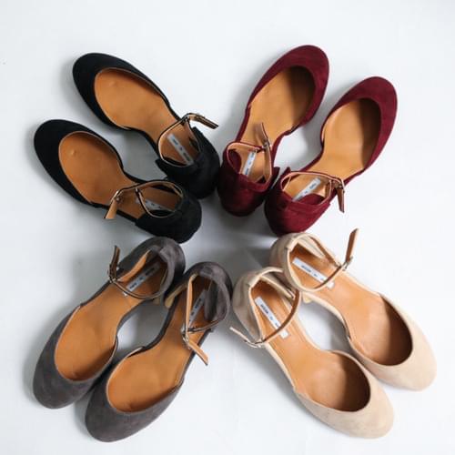 Mary Jane mid-heeled shoes