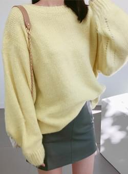 Knit loose fit mohair