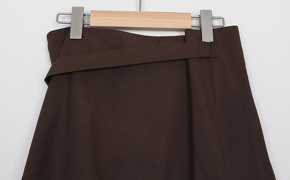 button free detail skirt (2colors)