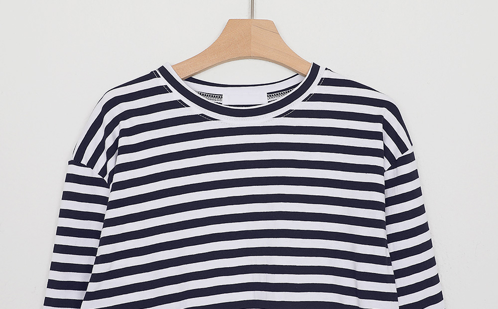 candy stripe boxy tee (4colors)