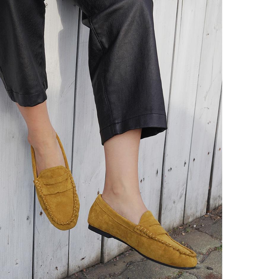 Moca suede penny loafer_M (size : 225,230,235,240,245,250)