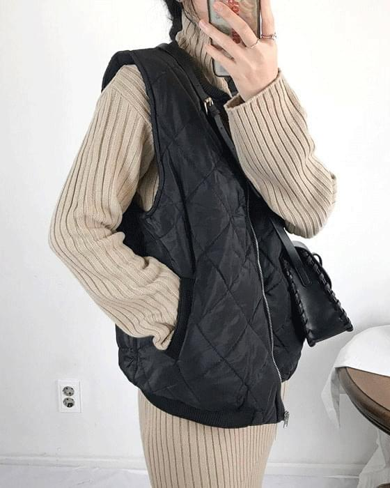 Brushed padding vest 3 color