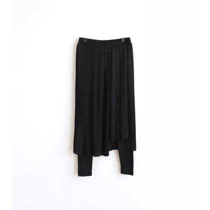 Unfleced Pleated Skirt Leggings