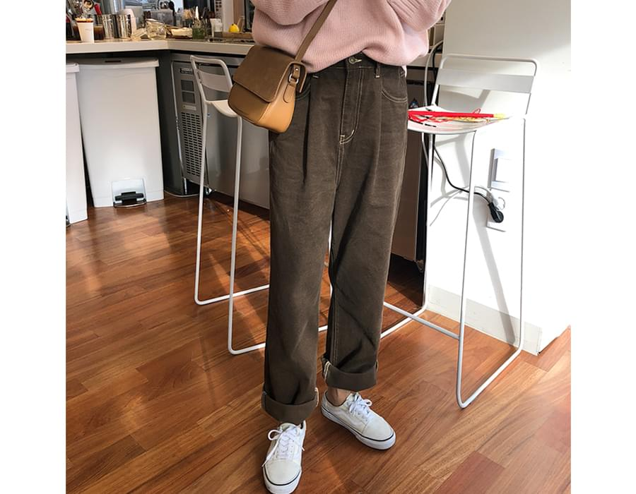 Heat stitch banding pants_B (size : free)