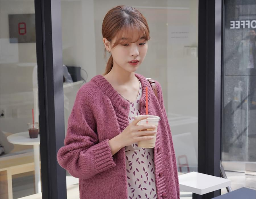 Alpaca cable round cardigan_H (알파카 25%, 울 25%) (size : free)