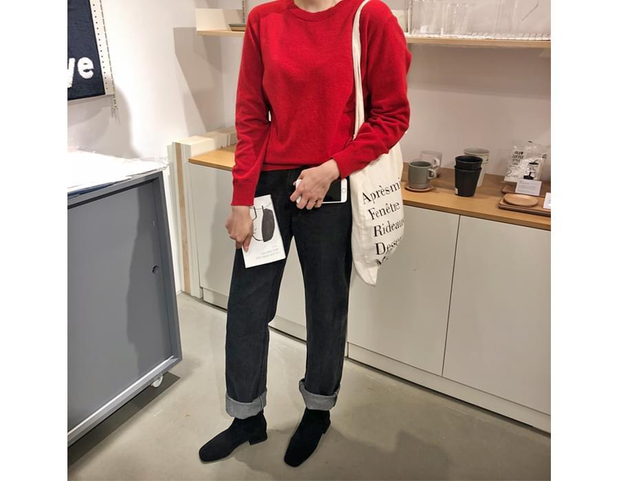 Medium round wool knit_Y (울 80%) (size : free)