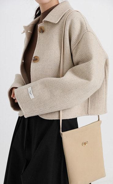 handmade modern check short jacket (2colors)