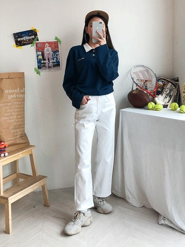 Boyfit cotton trousers