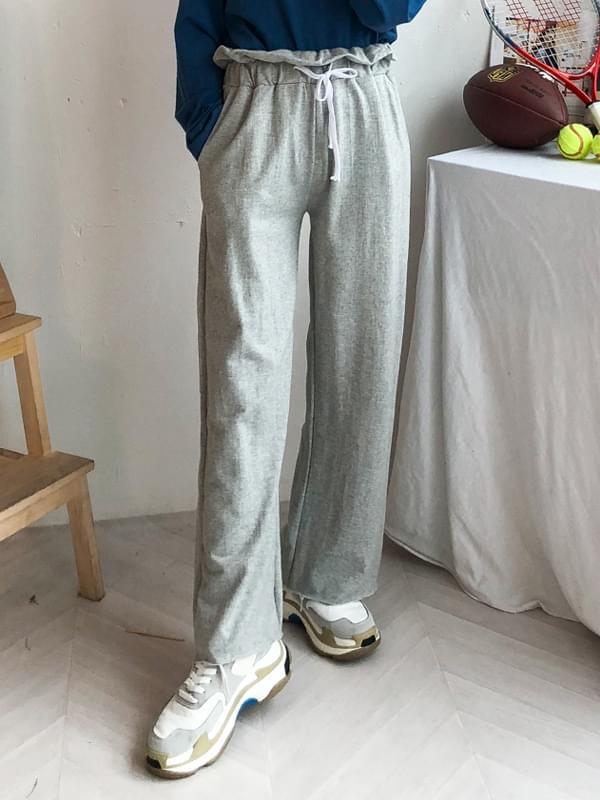 Shirring ribbon pants