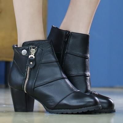 Anky Cowhide Ankle Boots 6cm