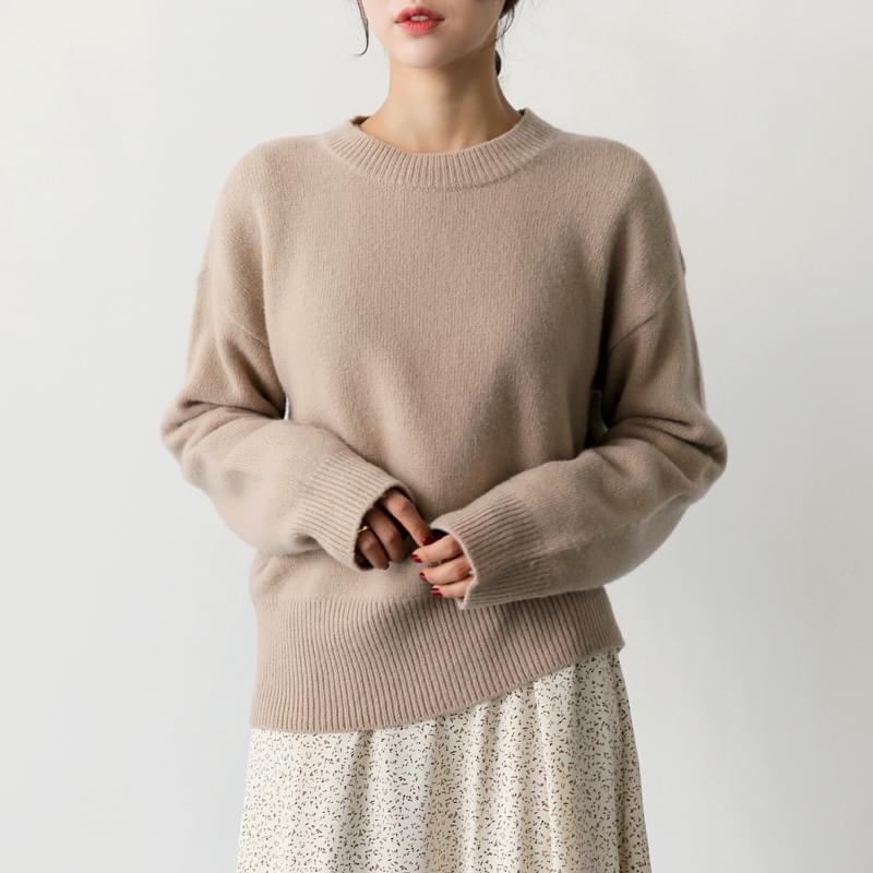 Lamb Shibori knit beige