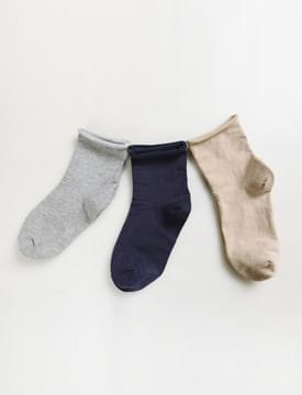 韓國空運 - Rolled simple socks 襪子