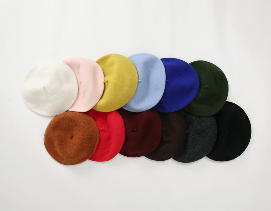 Deep color wool beret_SW (size : one)