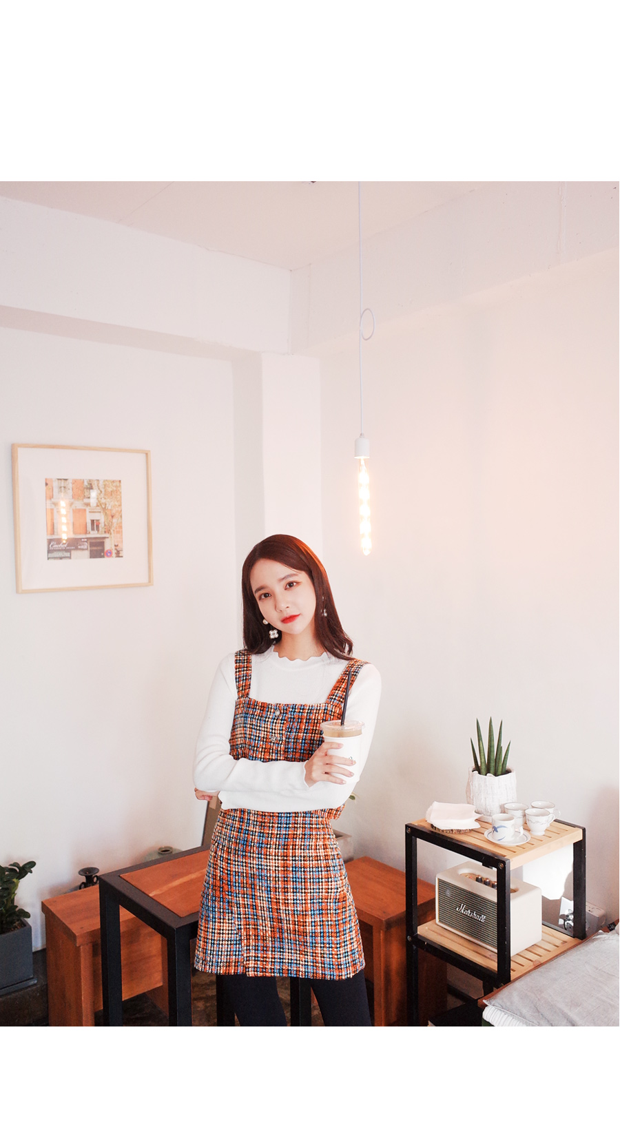 Cubic tweed top + skirt SET