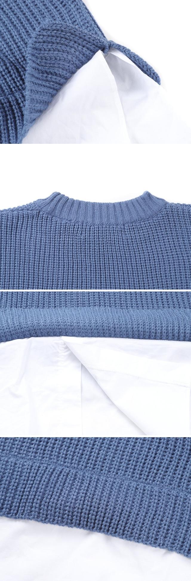 Shirt layered knit ♥ unisex ♥