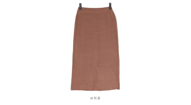 Knit skirt with back charm SK