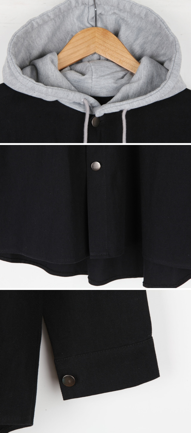 Park Si-hooded layered cotton JP