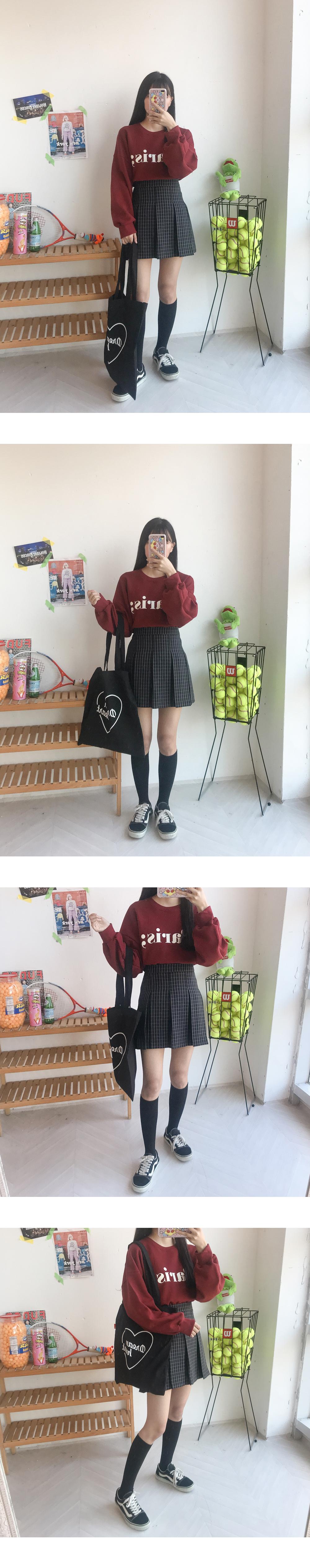 Block check skirt