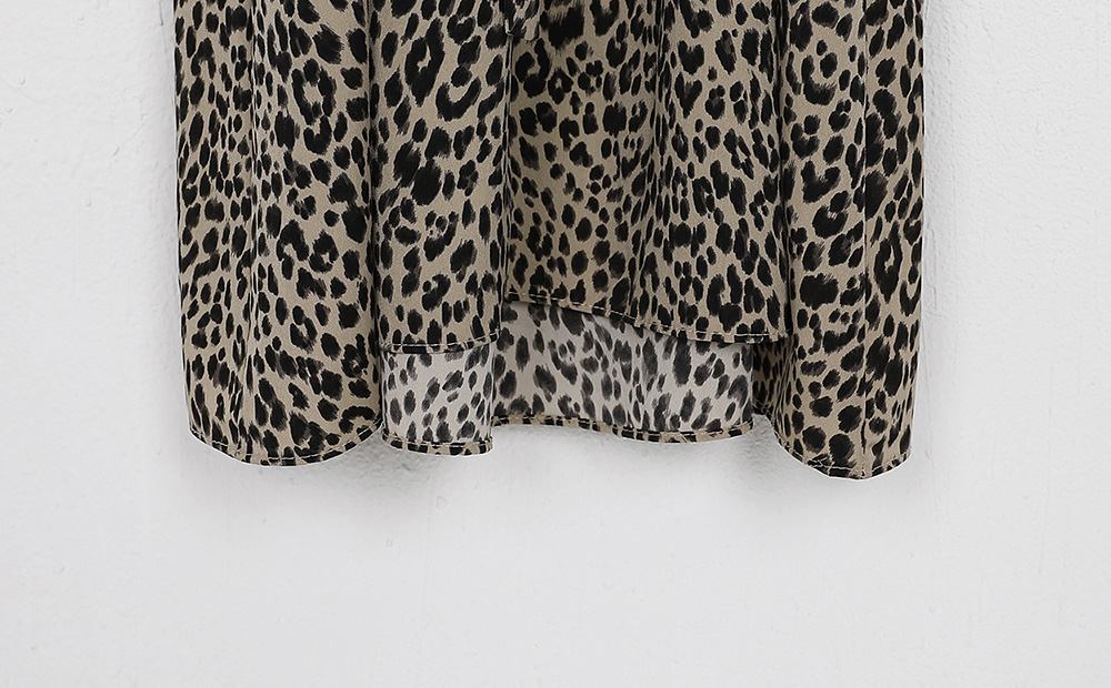 leopard shirring one-piece (2colors)