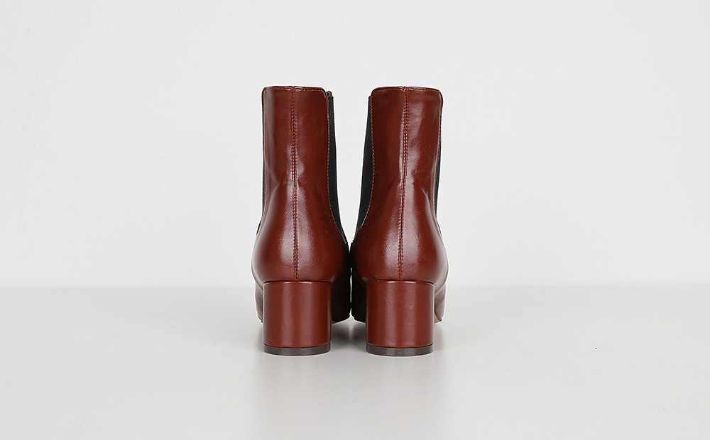 shallow banding ankle boots (2colors)