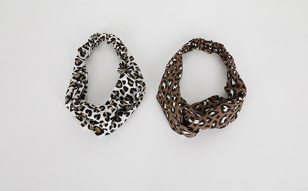 leopard twisted turban (2colors)