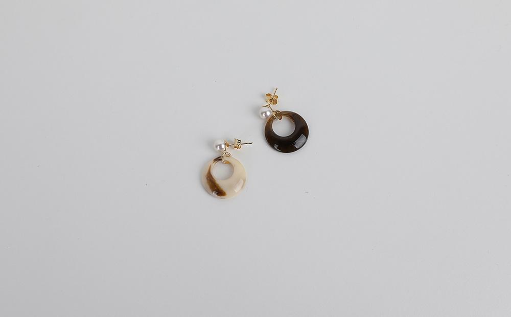 drop pearl earrings (2colors)