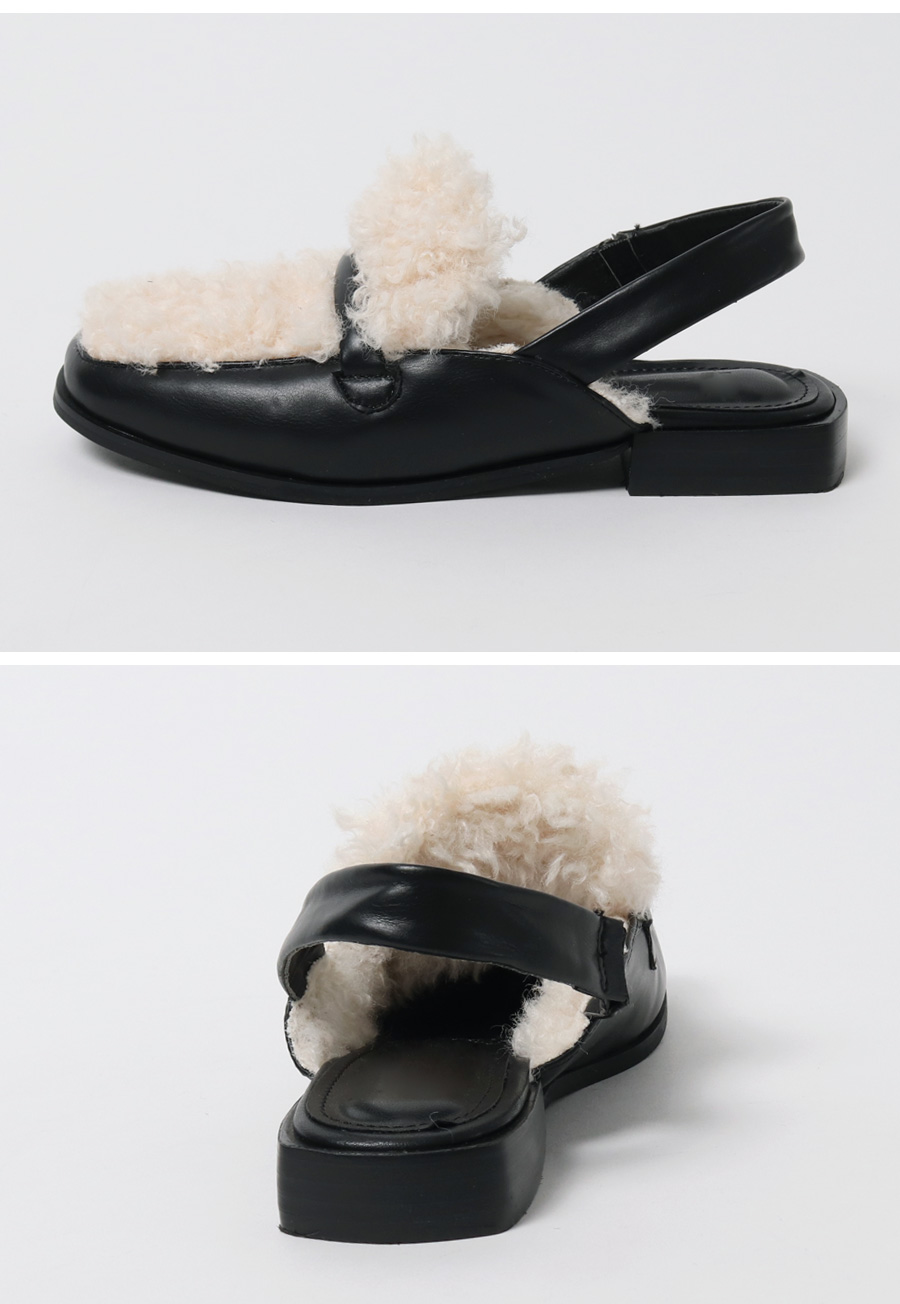 Fur cover sling-back shoes_H (size : 225,230,235,240,245,250)