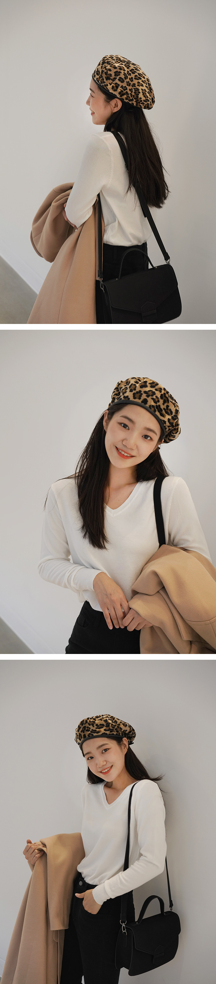 Leopard hair beret_M (size : one)