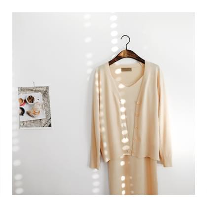Denny knit dress cardigan set