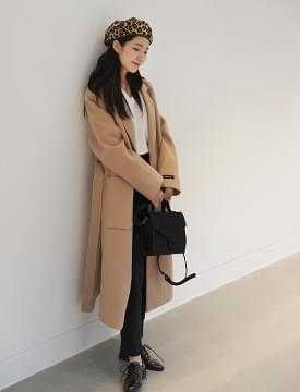 Blanc single belt coat_M (size : free)