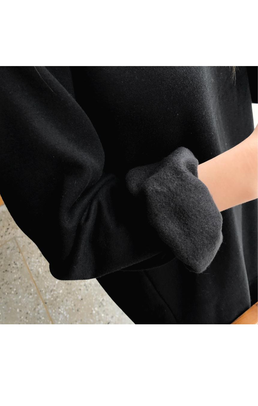 Warm brushed dress