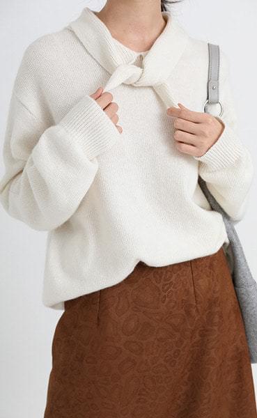 tie collar knit (4colors)