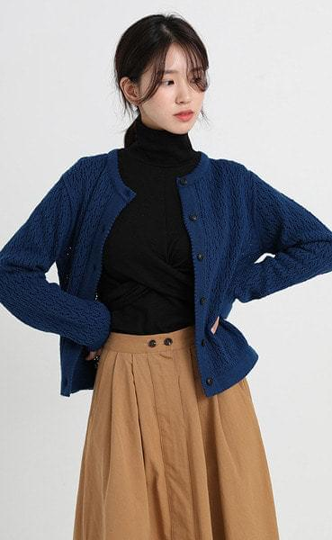basil knit cardigan (4colors)